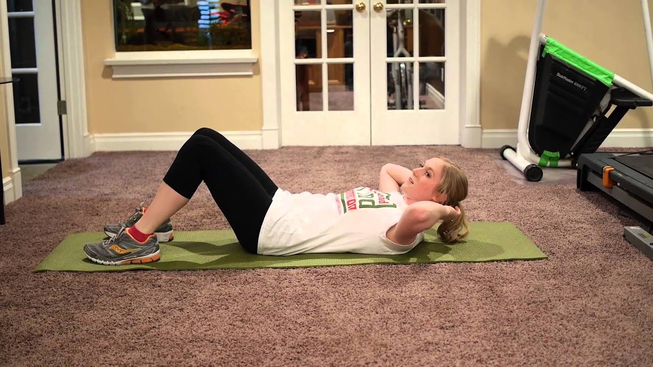 Bicycle Crunch - Great Home Workout - The Fit and Food