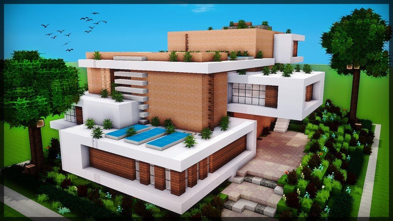 A casa moderna mais bonita que voc j viu minecraft for Casa moderna minecraft pe 0 10 5