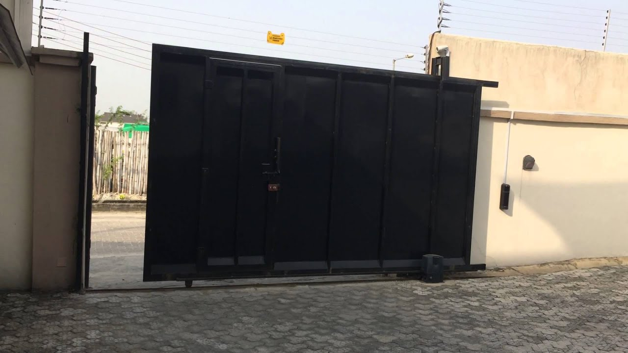 Automatic Gate Installed In Lekki Lagos Nigeria Youtube