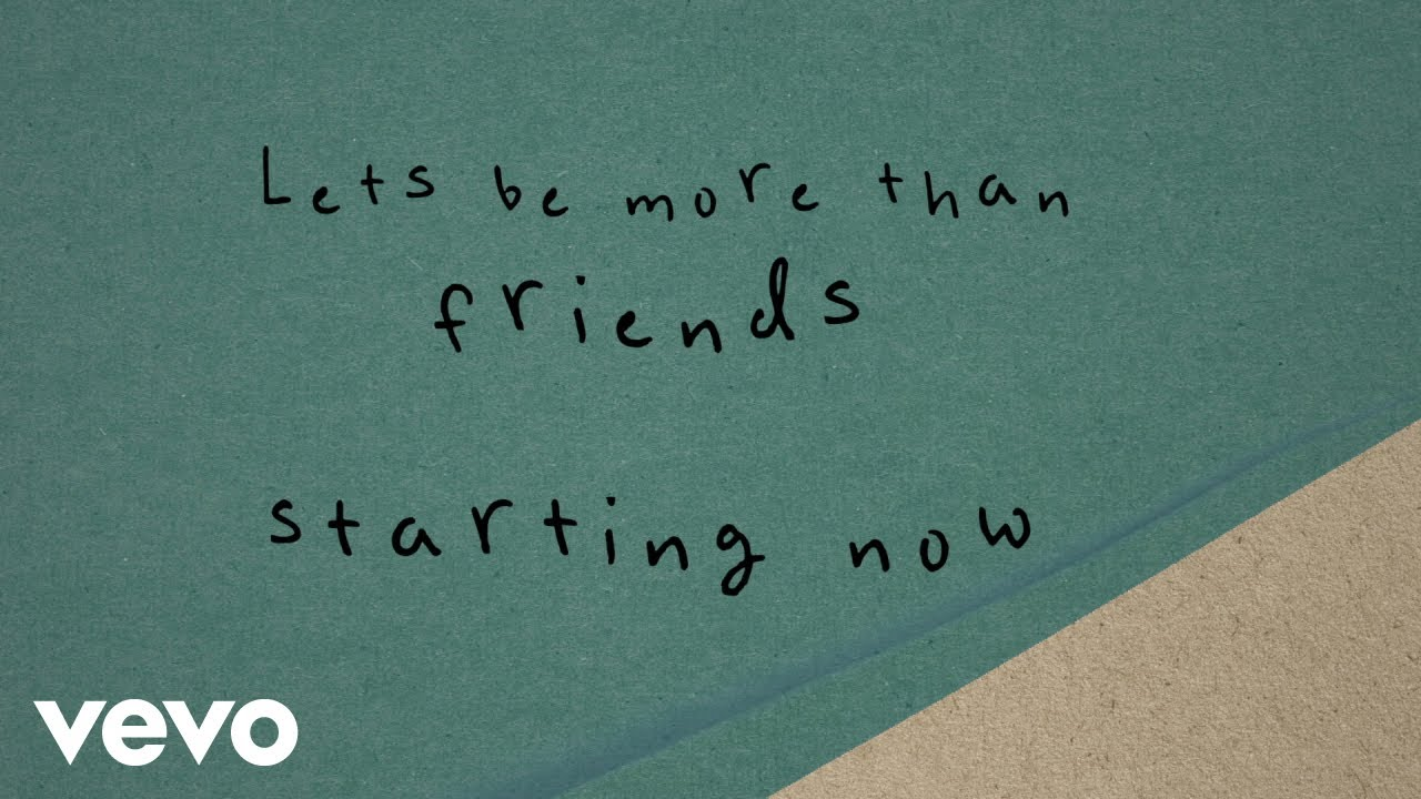 More Than Friends (Lyric Video)