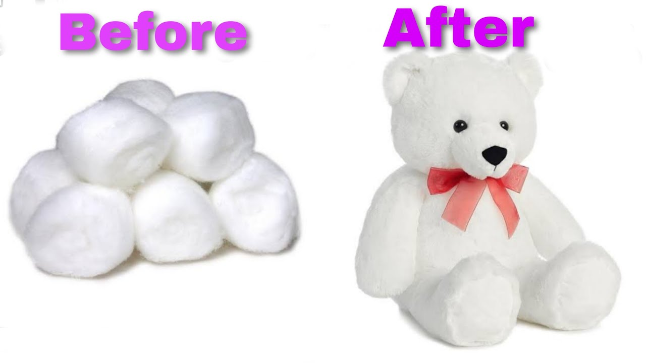 Download how to make cotton teddy bear.