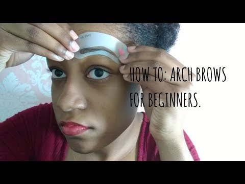 How to arch eyebrows using a razor