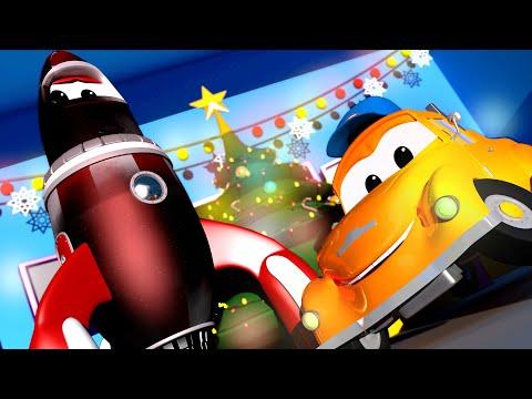 Rocky die Rakete will einen Blick auf den Weihnachtsmann werfen - Toms Autowaschanlage / Auto Zei...