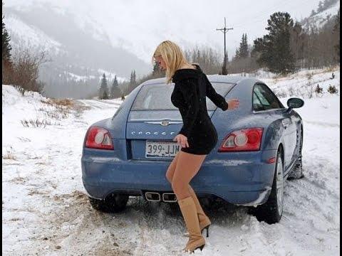 Приколы на дороге ДТП Авто приколы Бабы за рулем  Fun on the road Auto accidents fun