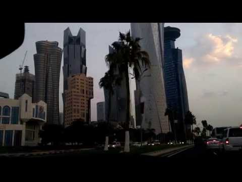 Doha : On the way to office (West Bay) 5:45am