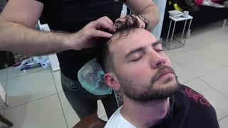 ASMR Turkish Barber Face Head And Back Massage 253