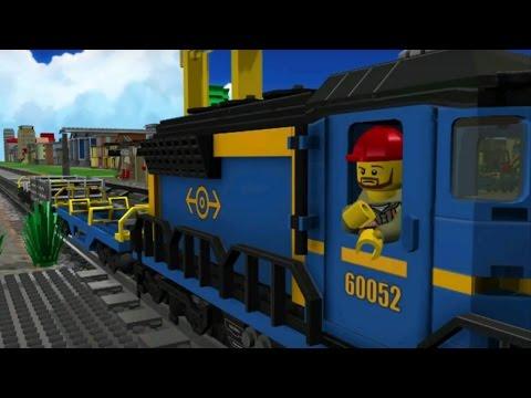 Trò chơi LEGO: Chơi trò bốc xếp hàng hóa - Đoàn tàu LEGO chở hàng, - Game 3D cho bé