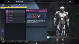 Injustice 2 - The Flash  All Unlockable Abilities