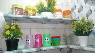 #تجديد_المطبخ قبل رمضان بدون تكاليف هنعمل رفوف وديكور ونجدد الشباك
