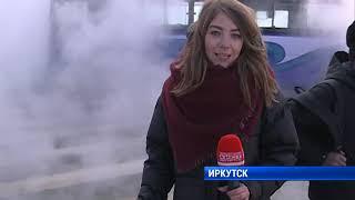 Трубу прорвало в Иркутске