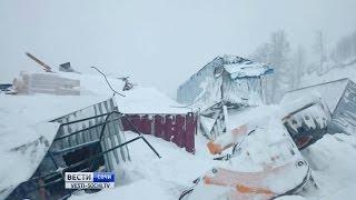При сходе лавины в горах под Сочи сильно пострадали два человека