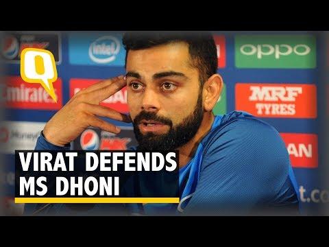 Virat Kohli Lashes Out at MS Dhoni's Critics