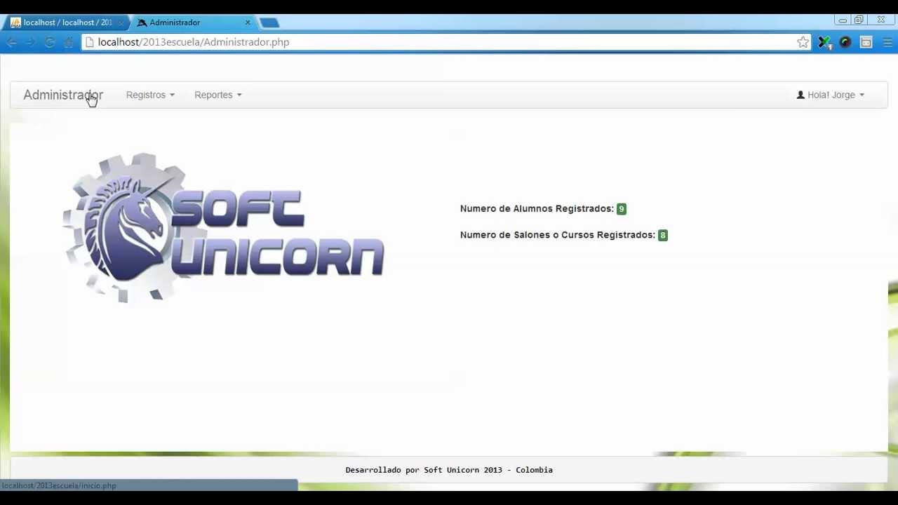 Registro & Control de Alumnos en PHP - YouTube