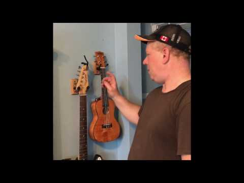 Hanging Guitar and Ukuleles With String Swing Hangers
