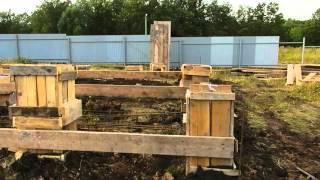 125-08 - Монтаж опалубки свай(Поэтапный видеоотчет хода строительства объекта №125. Проект