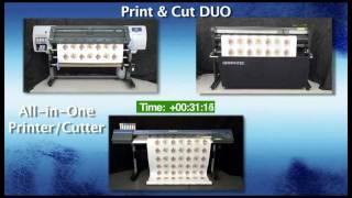 SPEED TEST Printer & Cutter VS Single Printer/cutter Combo