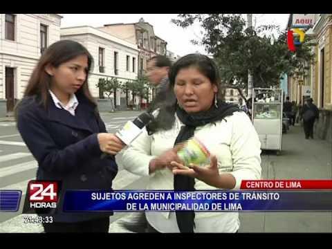 Sujetos agreden a inspectores de tránsito de la Municipalidad de Lima