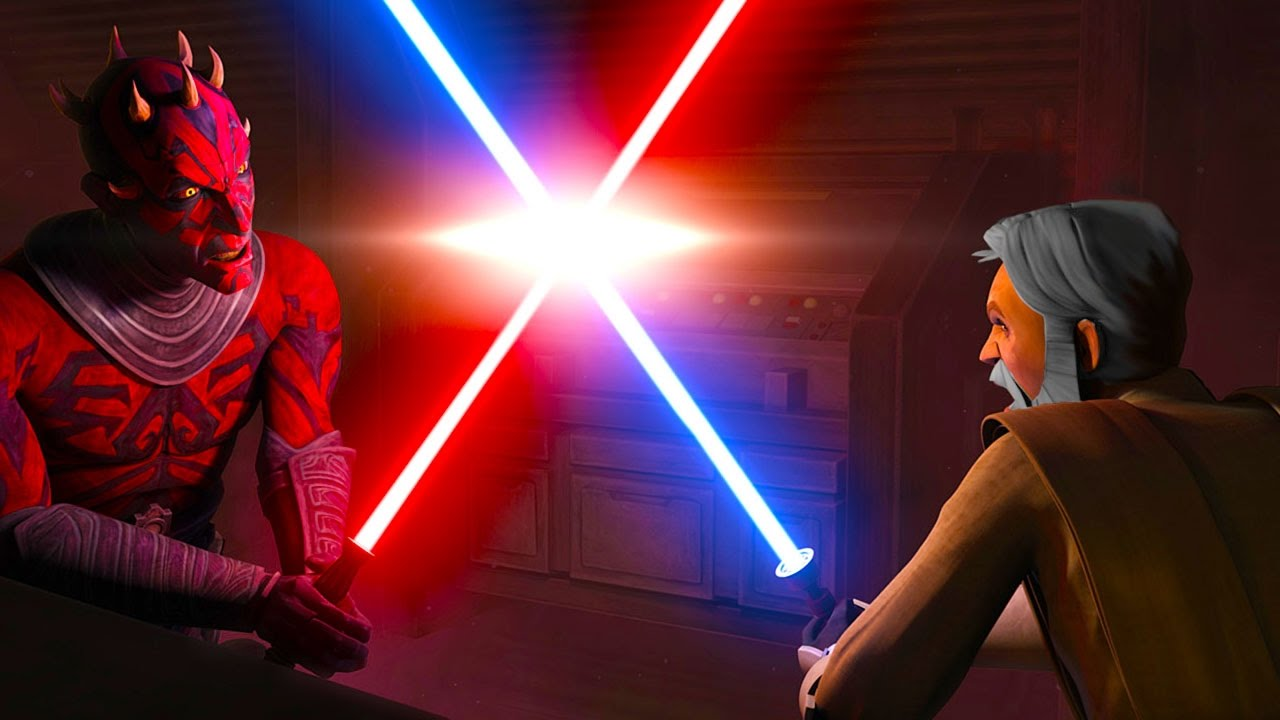 Star Wars Darth Maul Vs Obi Wan And Qui Gon