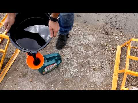 how to dispose of old oil after engine service youtube