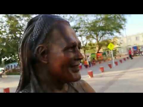 Así luce la polémica estatua de Carlos Vives en Ciénaga