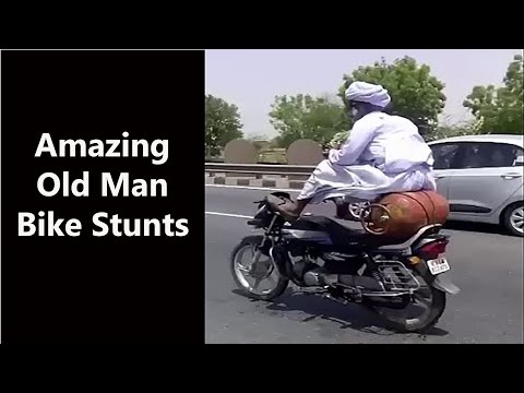 Bike Stunt by Rajasthani Old Man Goes...
