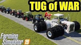 Farming Simulator 19 : TUG OF WAR !1! BIG BUD vs ALL MINI TRACTORS