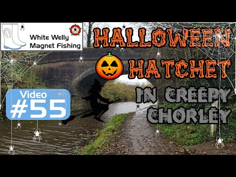 White Welly Magnet Fishing #55 Halloween Hatchet In Creepy Chorley