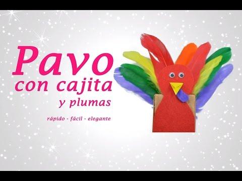 ACCION DE GRACIAS: Pavo con cajita y plumas - YouTube