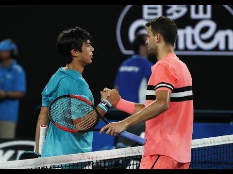 Grigor Dimitrov vs. Mackenzie McDonald 4-6, 6-2, 6-4, 0-6, 8-6 Australian Open (R64) 17.01.2018.