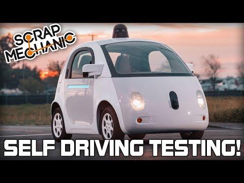 Self Driving Vehicle Testing (Scrap Mechanic Live Stream)