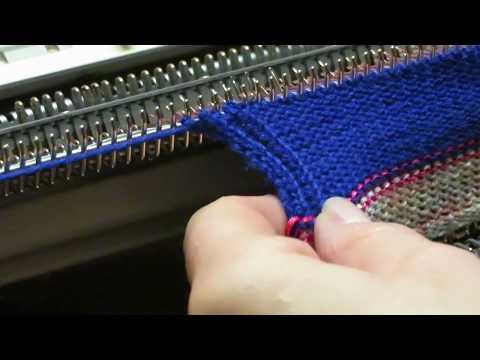 Youtube-Tutorial: Rippenmuster mit dem Einbett stricken