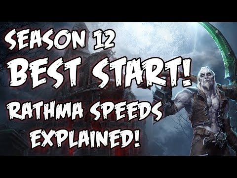Diablo 3 2.6.1 Rathma Speeds Explained! Season 12 & 13