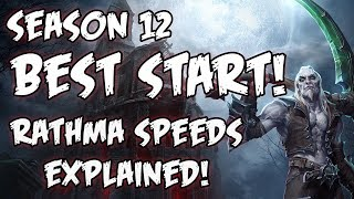 Diablo 3 2.6.1 Season 12 Best Start! Rathma Speeds Explained!
