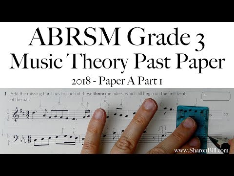 ABRSM Music Theory Grade 3 Past Paper 2018 A Part 1 With Sharon Bill