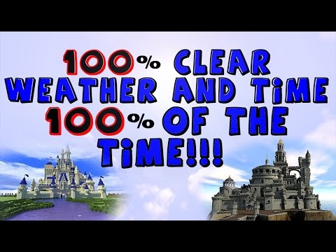 How To Set Permanent Day & Clear Weather In Minecraft!