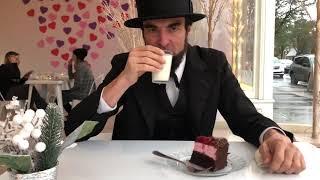 Abe Lincoln visits Jubilee Dessert Bar in Independence Oregon