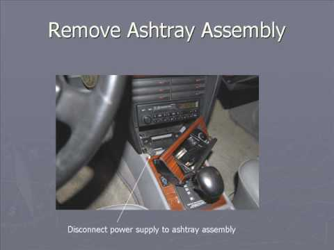 Removing Radio Mercedes 190E W201.wmv