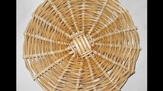 Донышко 4х4 - weaving the bottom - плетение из лозы