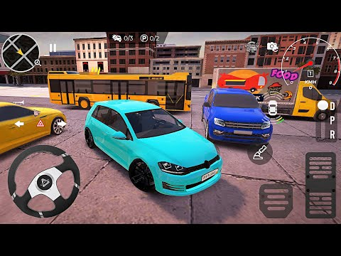 Real Car Parking Master : Çok Oyunculu Araba Oyunu #2- Volkswagen Golf (Yeni Araba) Android Gameplay