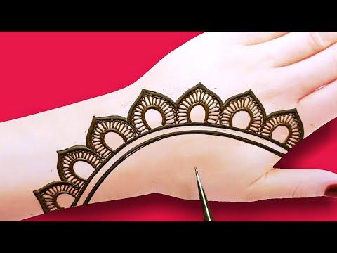 simple back hand Arabic mehndi design-easy Henna mehndi design-तीज त्यौहार स्पेशल मेहंदी डिजाइन
