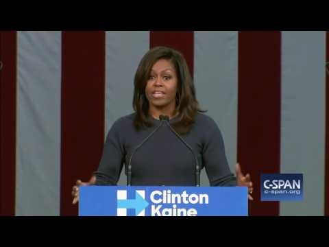 First Lady Michelle Obama complete speech in Manchester, NH (C-SPAN)