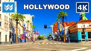 【4K】Driving from Hollywood Blvd to Hollywood Sign in Los Angeles, California USA