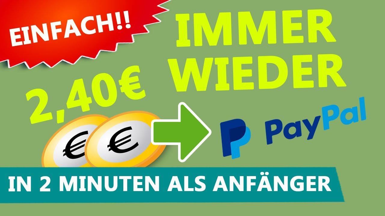 IMMER WIEDER 2,40 € in 2 Minuten 💰ONLINE GELD VERDIENEN (Paypal Geld verdienen mit Paidlikes)