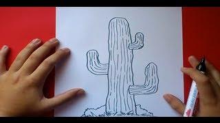 Como dibujar un cactus paso a paso | How to draw a cactus