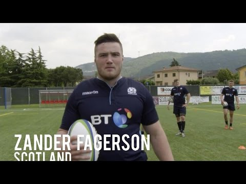 Drop goal challenge: Scotland Rugby U20s