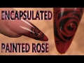 Encapsulated Stencil Rose Nail Design- How to Sculpt a Hard Gel Smileline