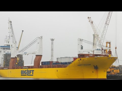 BigLift Happy Dragon Heavy Lift Ship Crane 800 Tons Gottwald HMK 4406