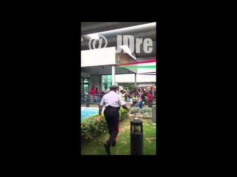Fight at Norman Manley Airport in Kingston Jamaica