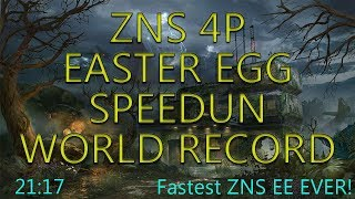 ZNS 4P EASTER EGG SPEEDRUN - WORLD RECORD - 21:17 (Fastest ZNS EE ever completed)