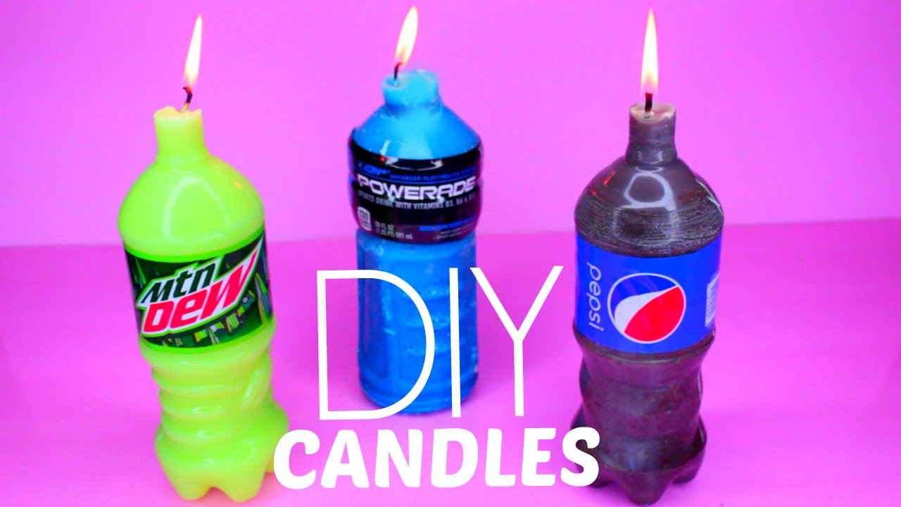 How To Make Mountain Dew, Pepsi And Powerade Candles DIY   YouTube